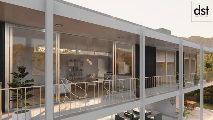 Casa Díaz: Casas de estilo  por DST arquitectura