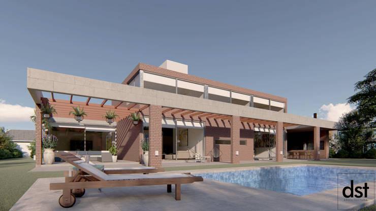 Casa Guevara: Casas de estilo  por DST arquitectura