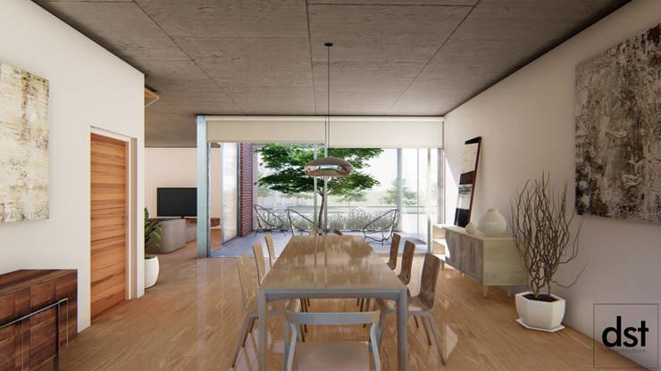 Casa Guevara: Comedores de estilo  por DST arquitectura