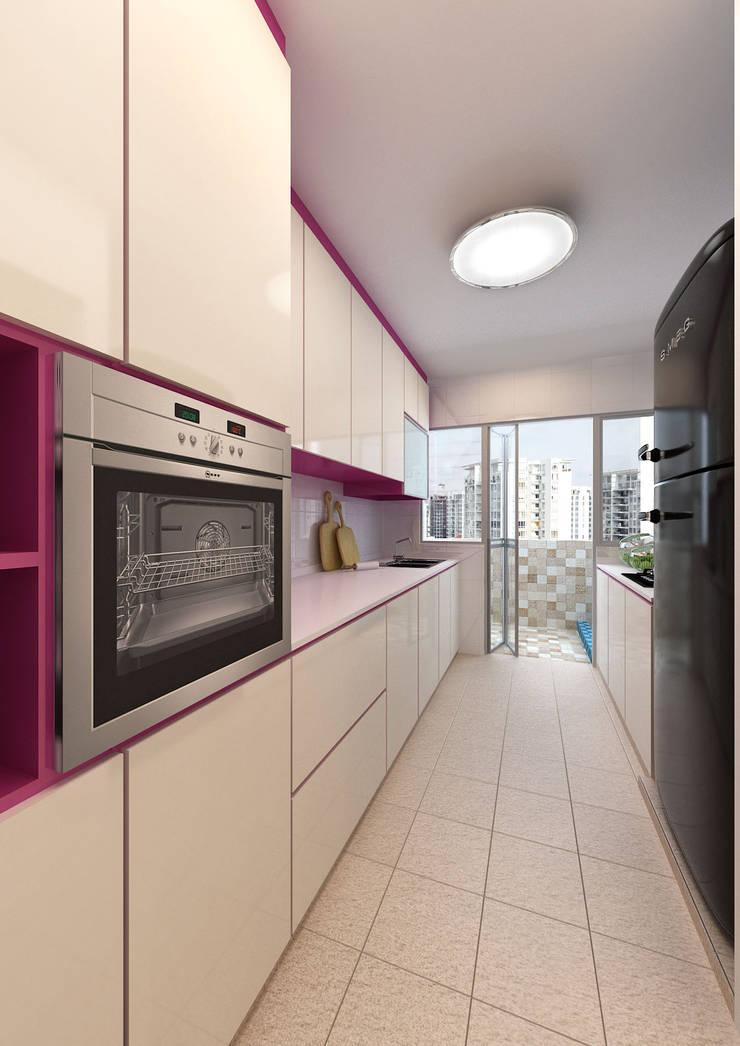 Kitchen:  Dapur built in by March Atelier