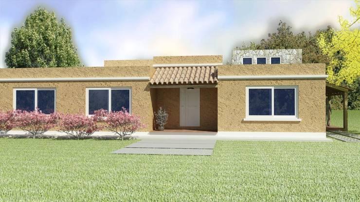 FRENTE: Casas unifamiliares de estilo  por A3 arquitectas - Salta,