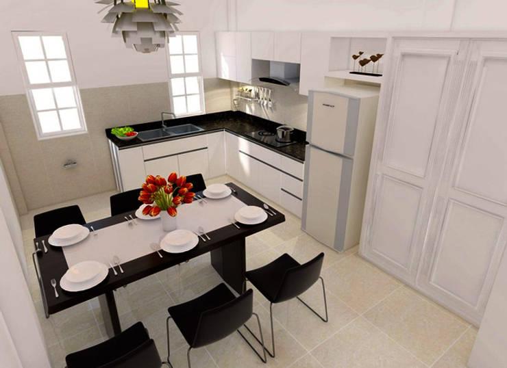 Kitchen units by Công ty Thiết Kế Xây Dựng Song Phát