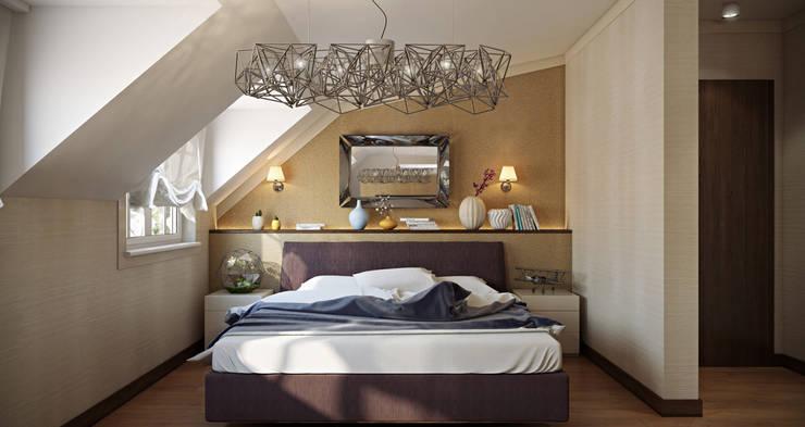 Tolga Archıtects – Bakü S House:  tarz Yatak Odası