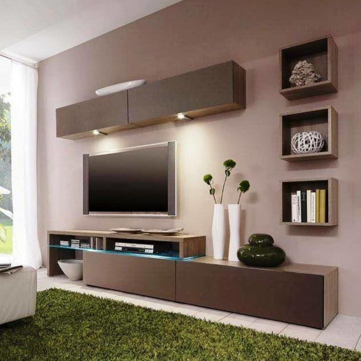 Modern Tv Cabinet Wall Unit Living Room By Innoire Design