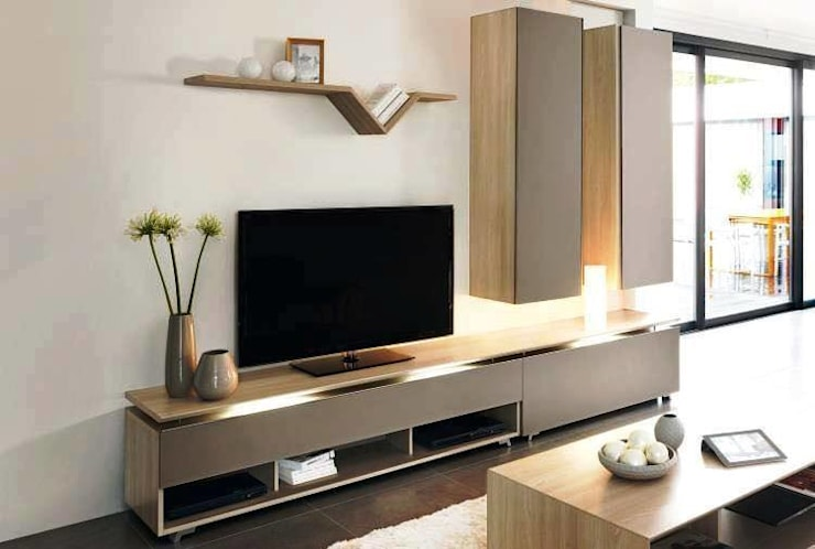 Modern TV Cabinet Wall Unit- Living room:  Living room by Innoire Design