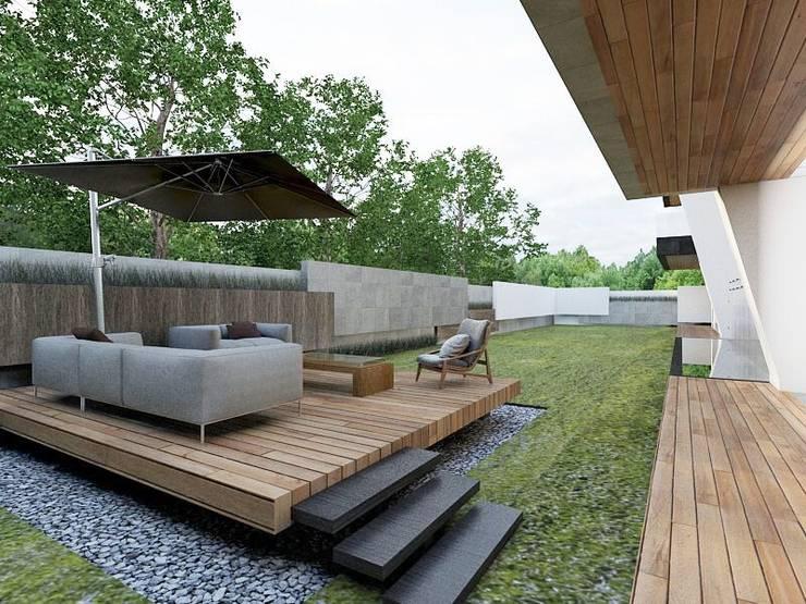 Casa M: Terrazas de estilo  por emARTquitectura