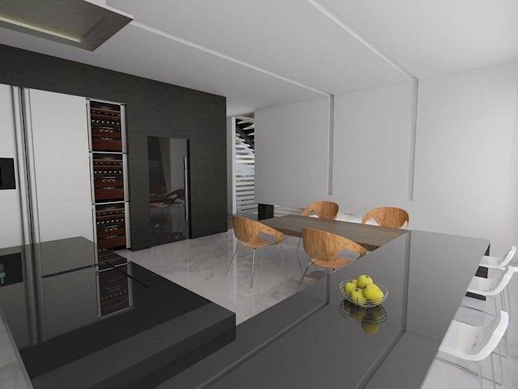 Casa M: Comedores de estilo moderno por emARTquitectura
