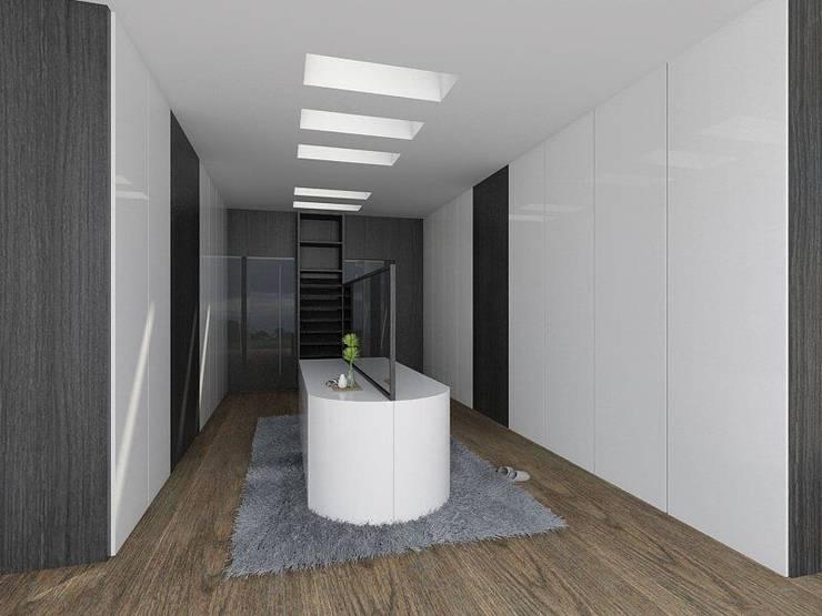 Casa M: Pasillos y recibidores de estilo  por emARTquitectura