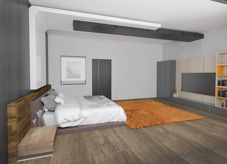 Casa M: Recámaras de estilo  por emARTquitectura