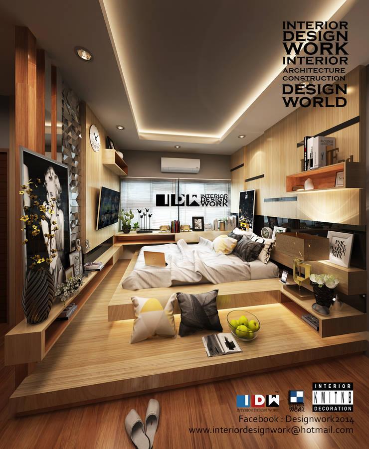 bedroom.:  ตกแต่งภายใน by interir design work