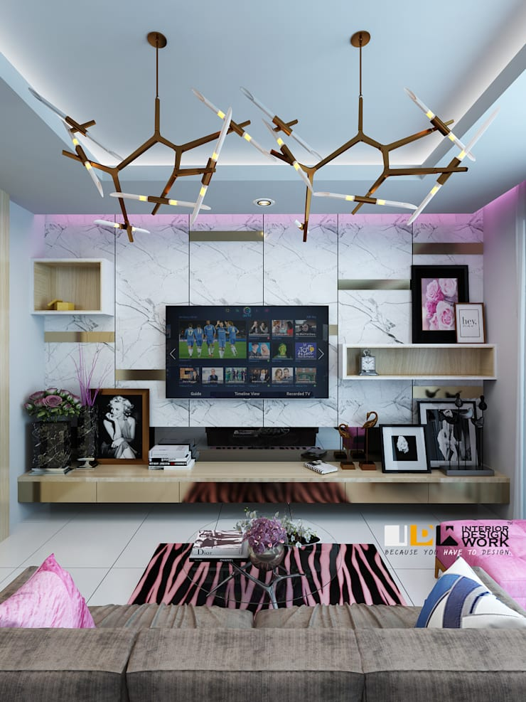 living room.:  ตกแต่งภายใน by interir design work