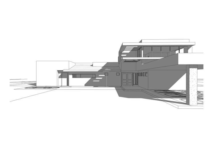 Proyecto antes de construir: Casas de estilo  por Arqbau Ltda.