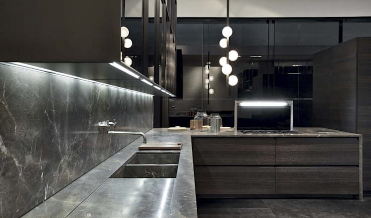 Unit dapur oleh Eurooo Brasil, Minimalis Marmer