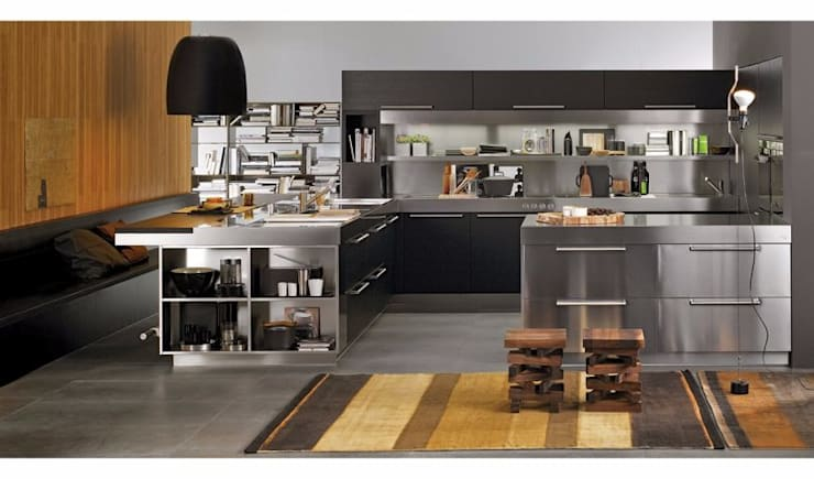 Unit dapur oleh Eurooo Brasil, Modern Perunggu