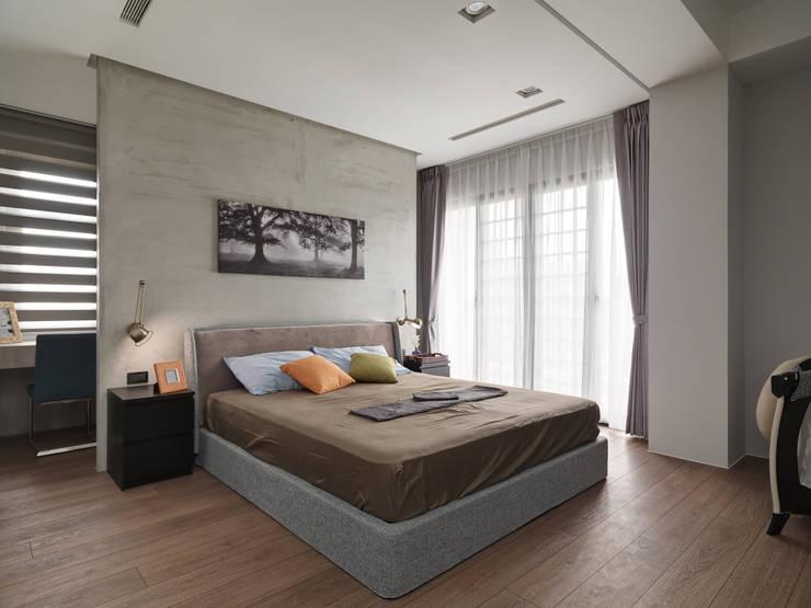光景 巫宅:  臥室 by WID建築室內設計事務所 Architecture & Interior Design