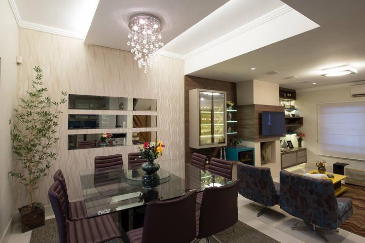 Sala Estar e Jantar - Residência Tristeza: Salas de jantar modernas por INOVA Arquitetura