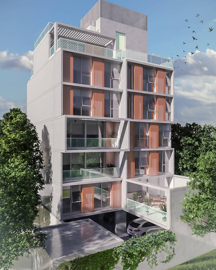 Terrazas de estilo  por Mauricio Morra Arquitectos, Moderno