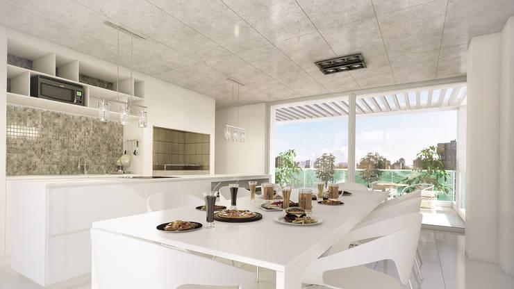Salas / recibidores de estilo  por Mauricio Morra Arquitectos, Moderno