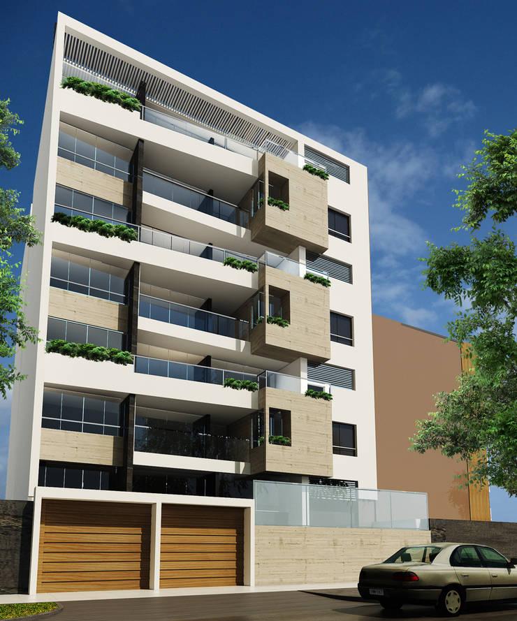 Edificio Cerro Colorado: Casas multifamiliares de estilo  por GSM Edificaciones