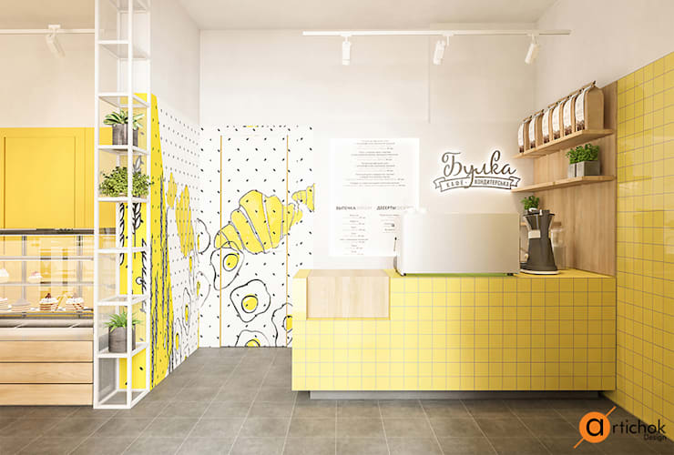 Oficinas y Tiendas de estilo  de Art-i-Chok, Escandinavo