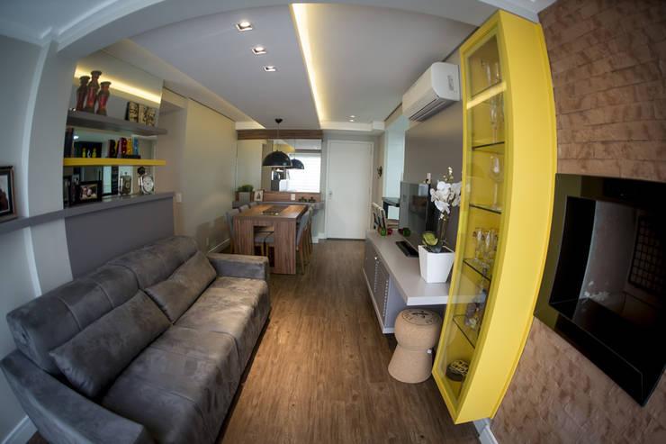 Sala Estar e Jantar - – Novo Higienópolis II: Salas de estar modernas por INOVA Arquitetura