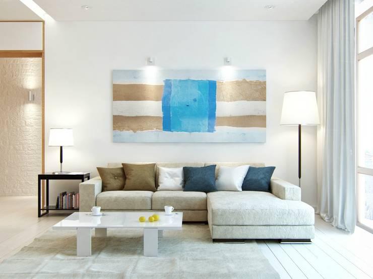 Beach Theme Interior:  Ruang Keluarga by March Atelier