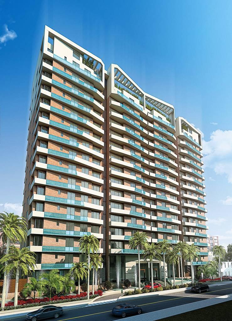 TORRES DEL CIELO:  de estilo  por DIARQ diseño arquitectonico SAS,