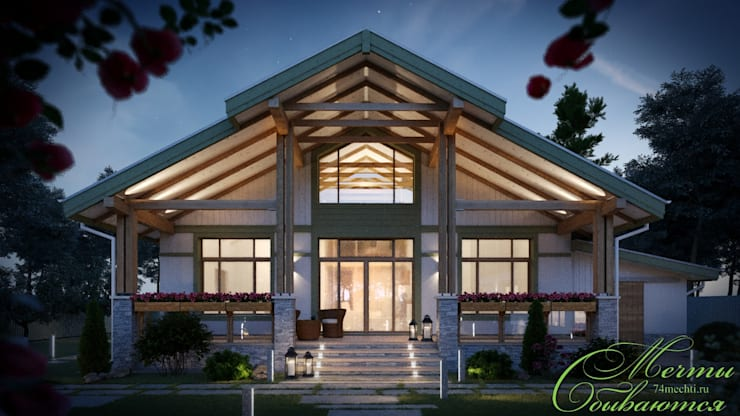 Maisons de style  par Компания архитекторов Латышевых 'Мечты сбываются'