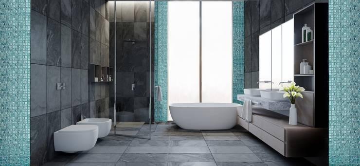 Апартаменты в Сити : Ванные комнаты в . Автор – Владимир Кот