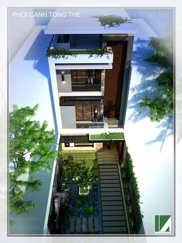 NHÀ PHỐ MẶT TIỀN 6M :   by công ty cổ phần Thiết kế Kiến trúc Việt Xanh