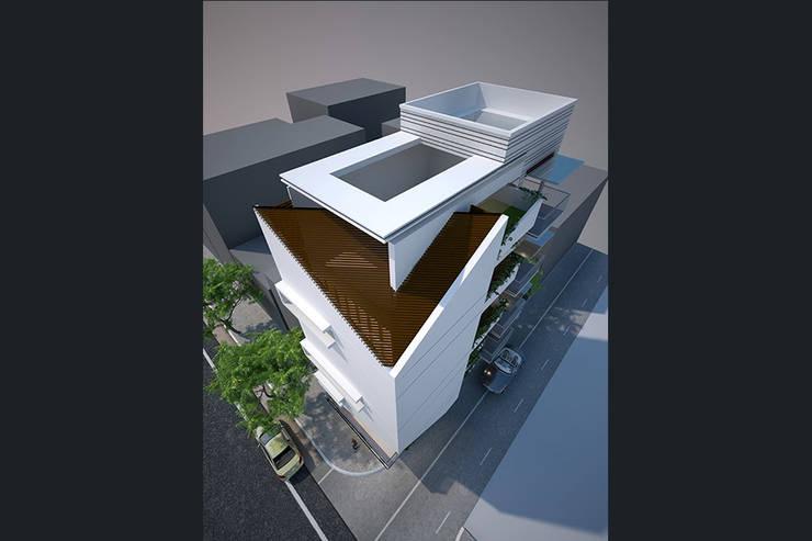 NHÀ PHỐ XANH 2 MẶT TIỀN :   by công ty cổ phần Thiết kế Kiến trúc Việt Xanh