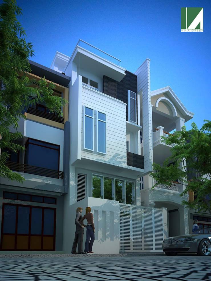 NHÀ PHỐ 3 TẦNG  4X 15.5M:   by công ty cổ phần Thiết kế Kiến trúc Việt Xanh