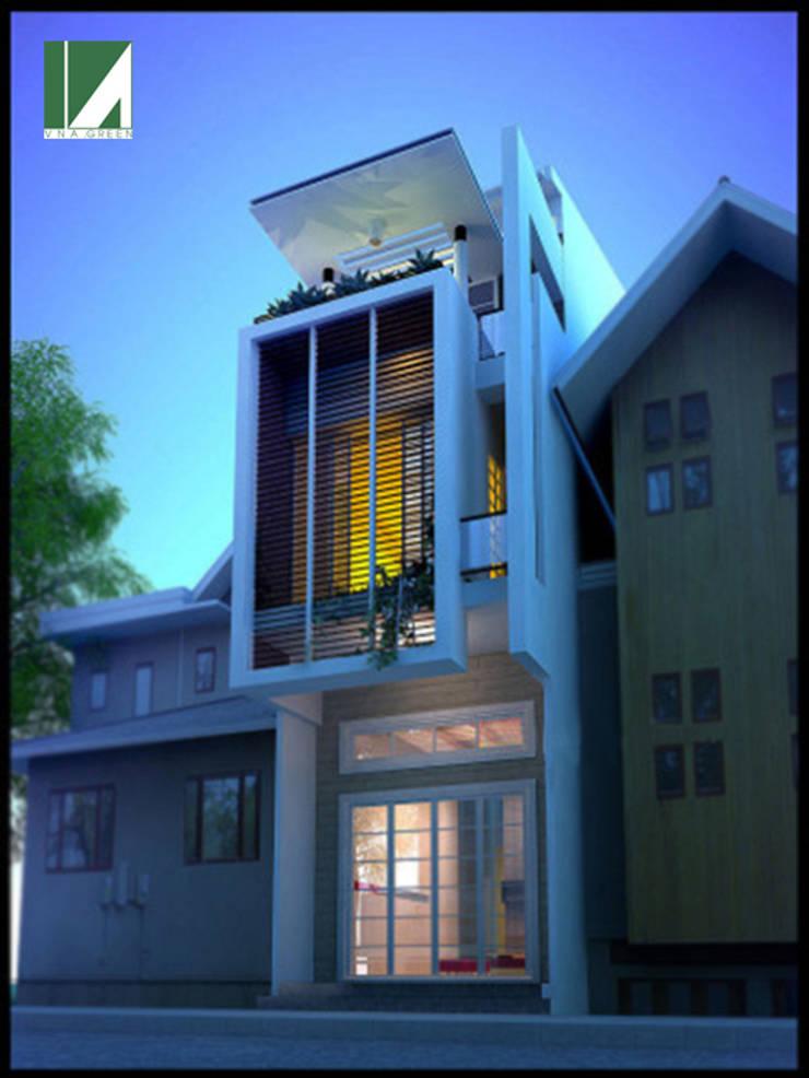 NHÀ PHỐ 3 TẦNG . 4 X 16.5M:   by công ty cổ phần Thiết kế Kiến trúc Việt Xanh