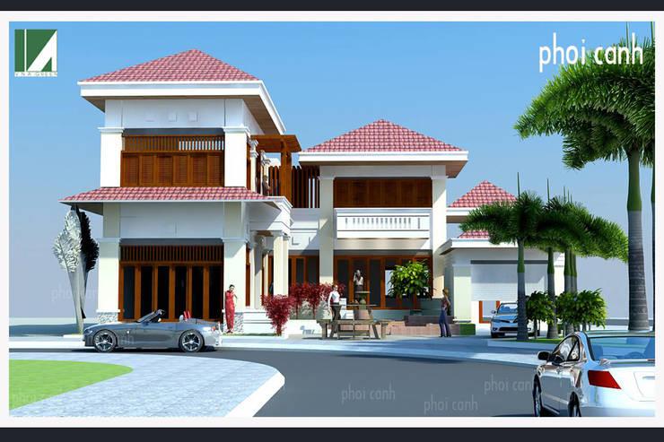 BIỆT THỰ 2 TẦNG MÁI NGÓI:   by công ty cổ phần Thiết kế Kiến trúc Việt Xanh