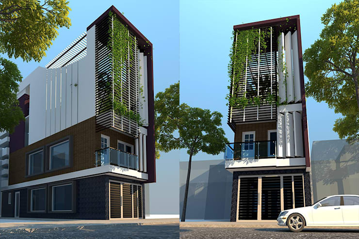 5 MẪU NHÀ PHỐ HIỆN ĐẠI 5 TẦNG :   by công ty cổ phần Thiết kế Kiến trúc Việt Xanh