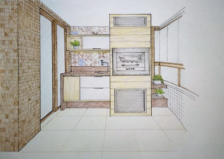 بلكونة أو شرفة تنفيذ Bernal Projetos - Arquitetos em Salvador