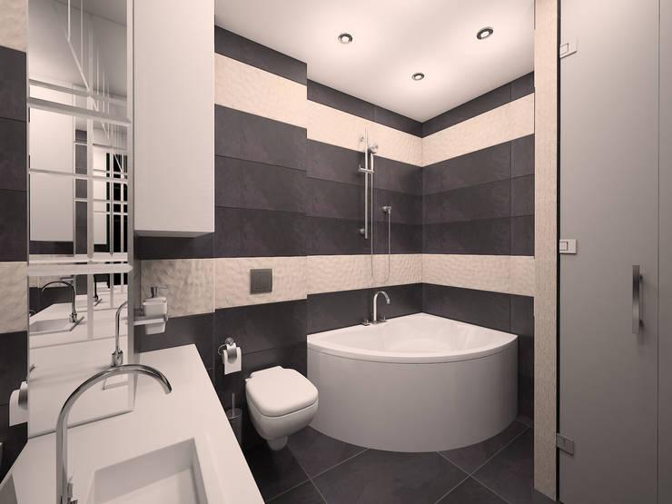 Лофт на Серпуховской: Ванные комнаты в . Автор – Студия Интерьеров Екатерины Розовой