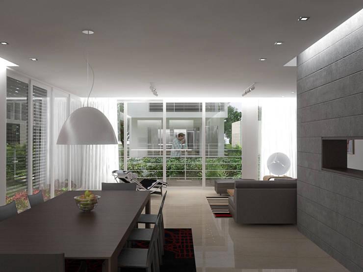 5 Casas en Miami: Salas / recibidores de estilo  por RRA Arquitectura
