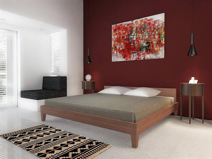 Lomas de Las Mercedes: Cuartos de estilo minimalista por RRA Arquitectura