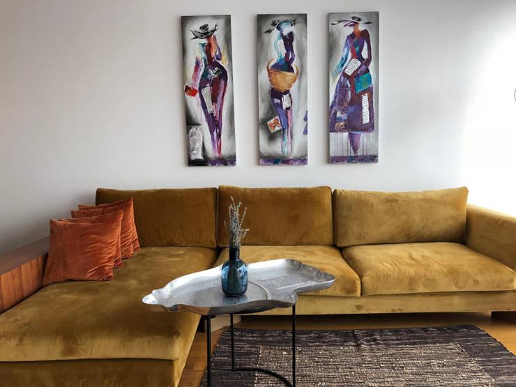 Salon de style  par Mahya Mimarlık, Scandinave