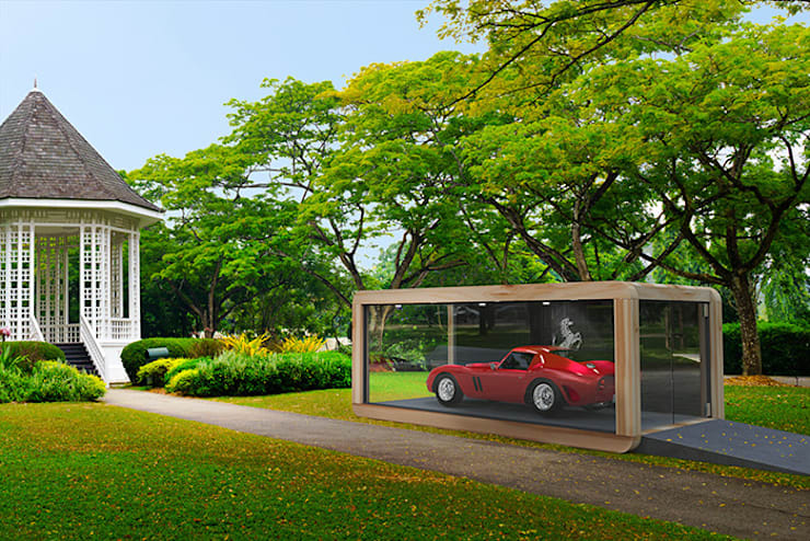 CAR CUBE:  Autodealers door CUBE Homes, Modern Hout Hout