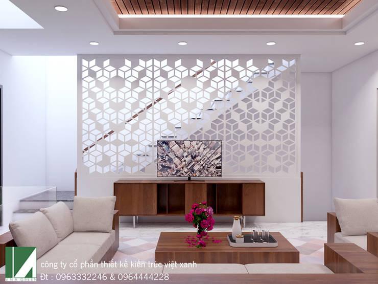 NỘI THẤT NHÀ PHỐ HIỆN ĐẠI 7M :   by công ty cổ phần Thiết kế Kiến trúc Việt Xanh