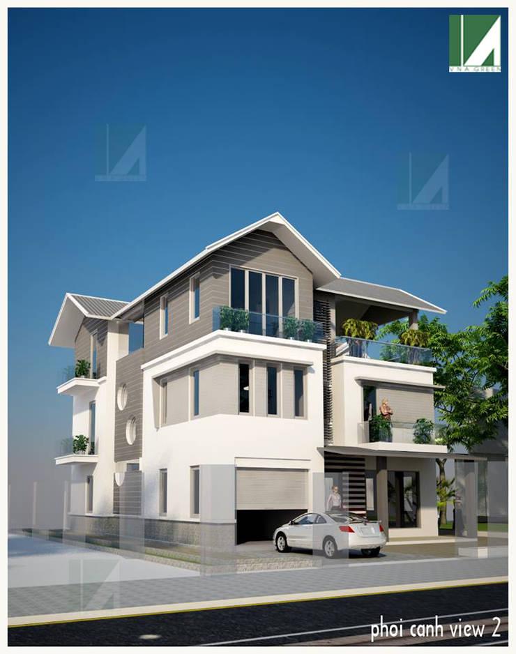 BIỆT THỰ KHU ANH DŨNG – HẢI PHÒNG :   by công ty cổ phần Thiết kế Kiến trúc Việt Xanh
