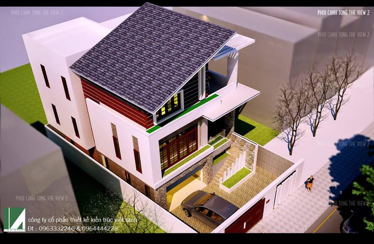 BIỆT THỰ HIỆN ĐẠI 3 TẦNG . THỦY NGUYÊN , HẢI PHÒNG :   by công ty cổ phần Thiết kế Kiến trúc Việt Xanh