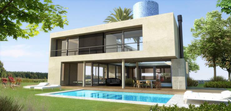 Imagen Exterior: Casas unifamiliares de estilo  por ARM Arquitectos,Moderno