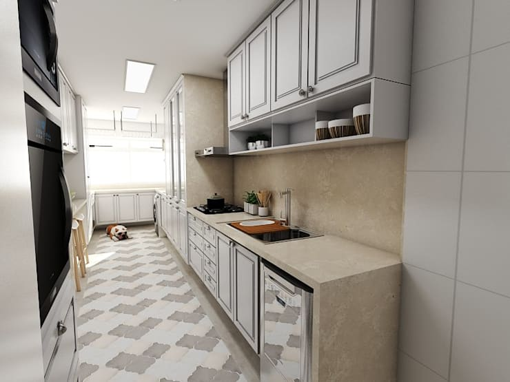 Cocinas de estilo  por Studio M Arquitetura, Clásico