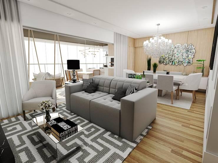 Salas / recibidores de estilo  por Studio M Arquitetura, Clásico