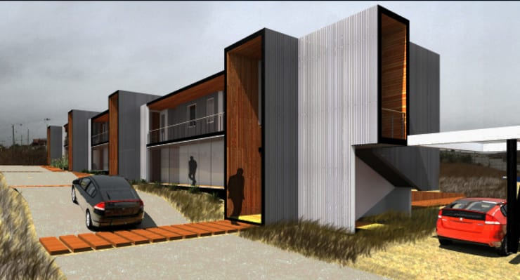 平房 by Crescente Böhme Arquitectos, 現代風 鋁箔/鋅