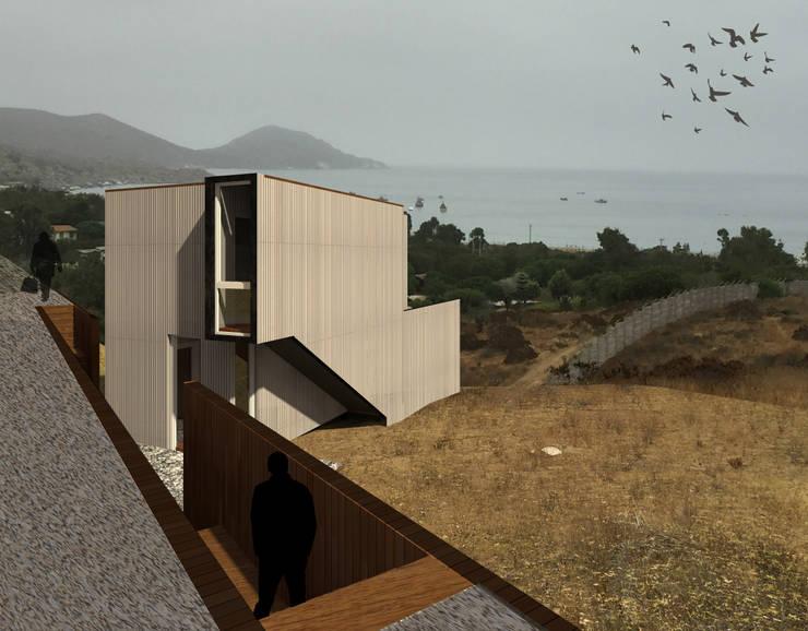 房子 by Crescente Böhme Arquitectos, 現代風 鋁箔/鋅