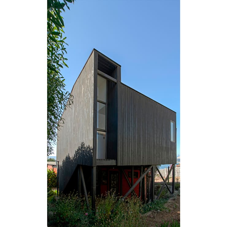 Houses by Crescente Böhme Arquitectos, Modern Wood Wood effect